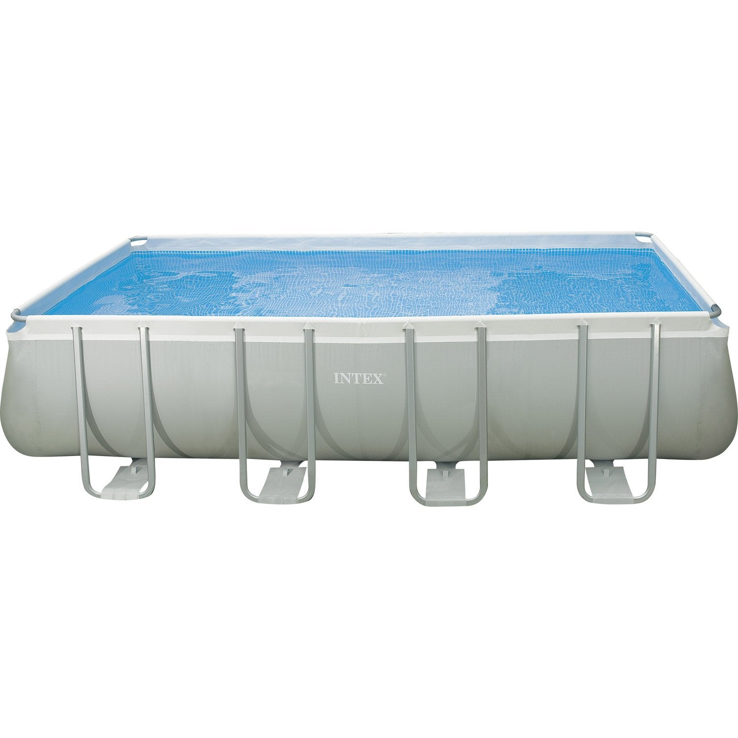 Piscine hors sol tubulaire ultra silver intex - Piscine rectangulaire hors sol intex ...