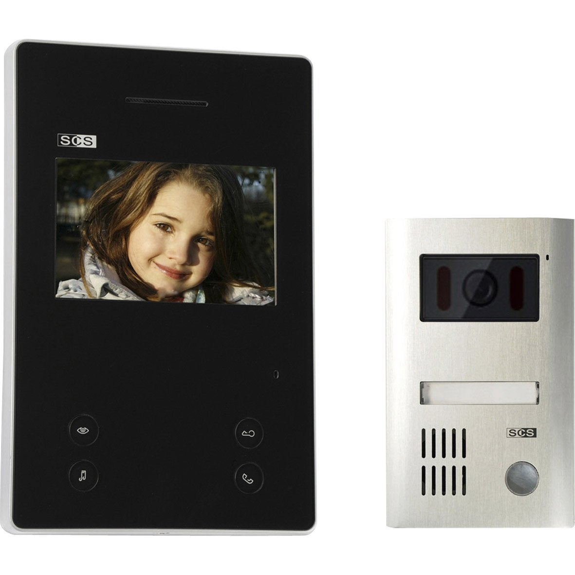 interphone visiophone 2 fils scs sentinel sofia m1e7 top b leroy merlin. Black Bedroom Furniture Sets. Home Design Ideas