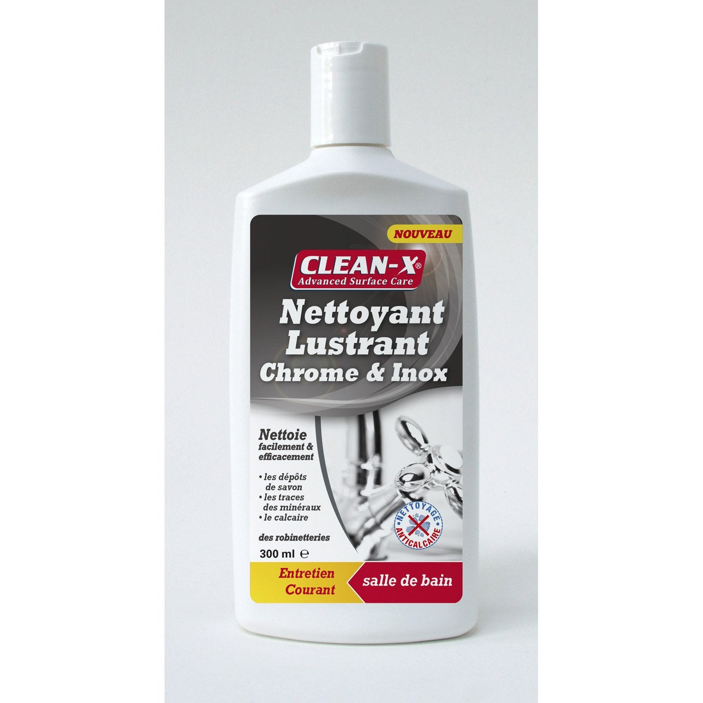 Produit nettoyant et lustrant chrome inox 300 ml leroy - Produit pour nettoyer l inox ...
