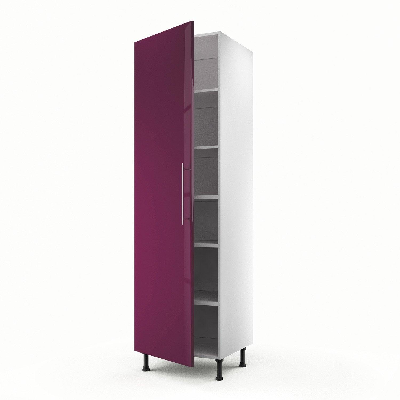 Meuble de cuisine colonne violet 1 porte rio x for Meuble cuisine violet