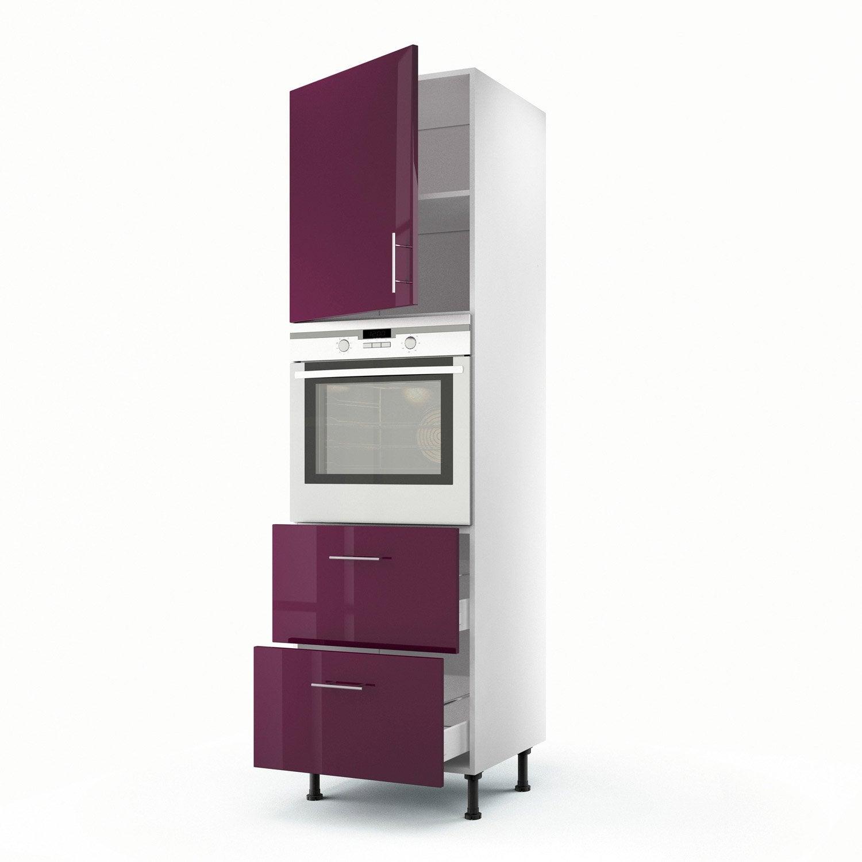 meuble de cuisine violet delinia rio | leroy merlin - Meuble Cuisine Violet