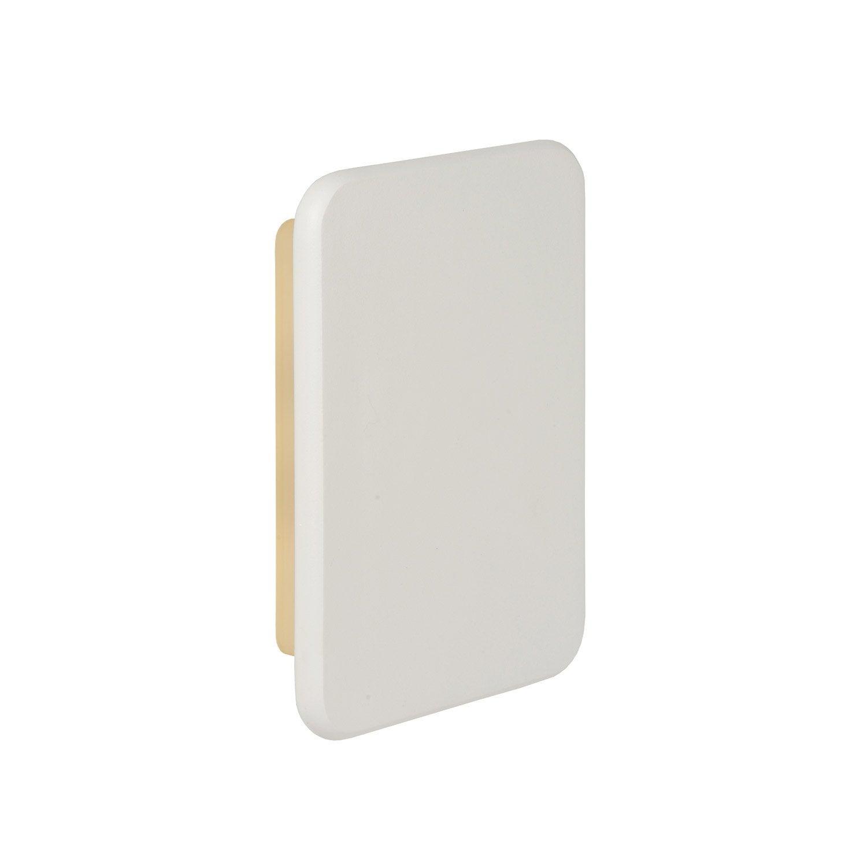 applique ext rieure zoom led int gr e blanc lucide leroy. Black Bedroom Furniture Sets. Home Design Ideas
