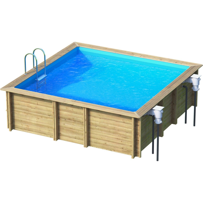 piscine hors sol bois weva l 4 5 x l 4 5 x h m leroy merlin. Black Bedroom Furniture Sets. Home Design Ideas