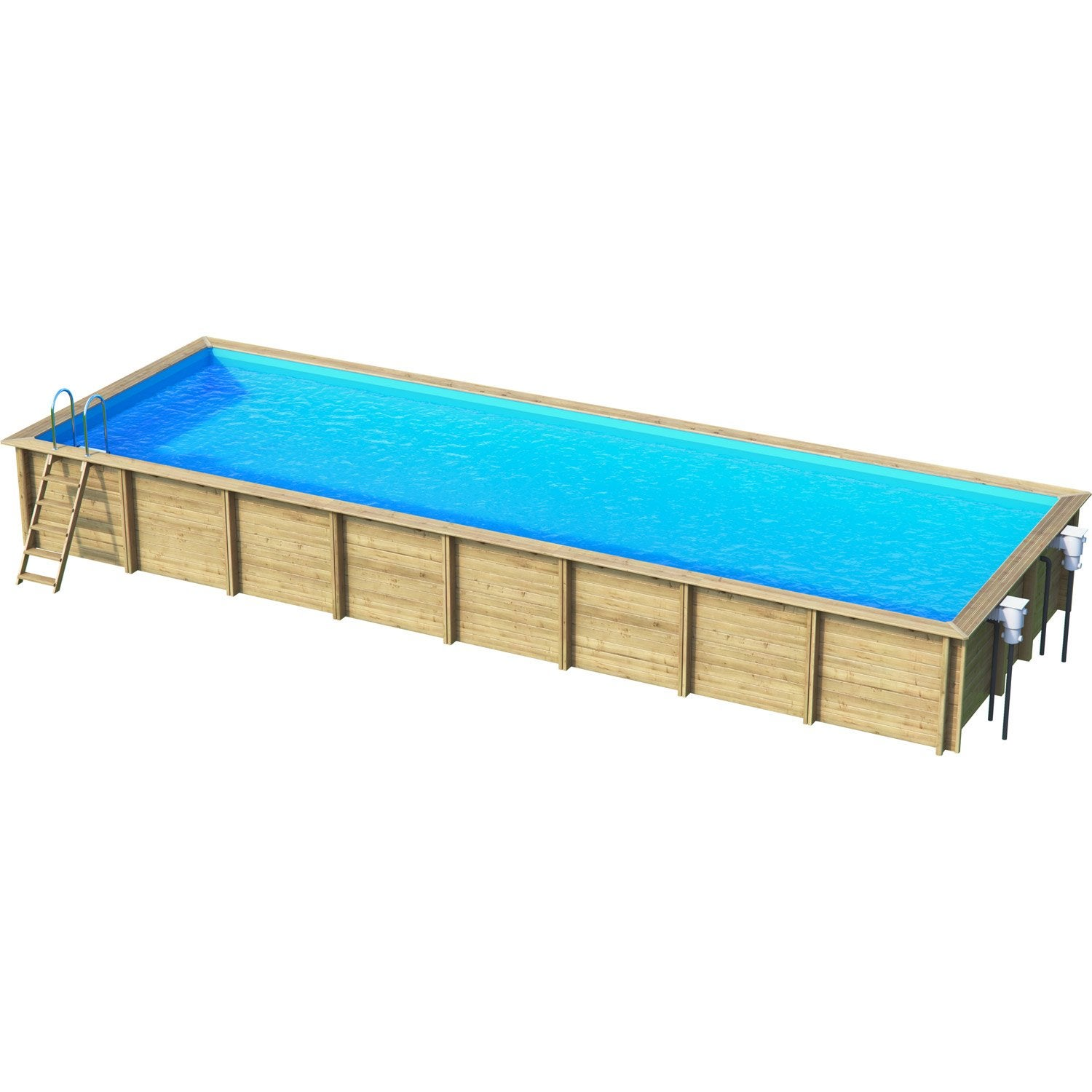 Piscine hors sol bois weva x l 4 5 x h m for Piscine hors sol legislation