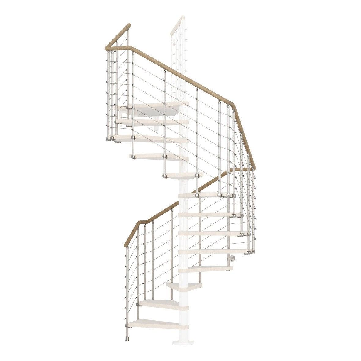 Garde Corp Bois Leroy Merlin : Garde-corps pour escalier Cube line blanc en bois clair PIXIMA Leroy