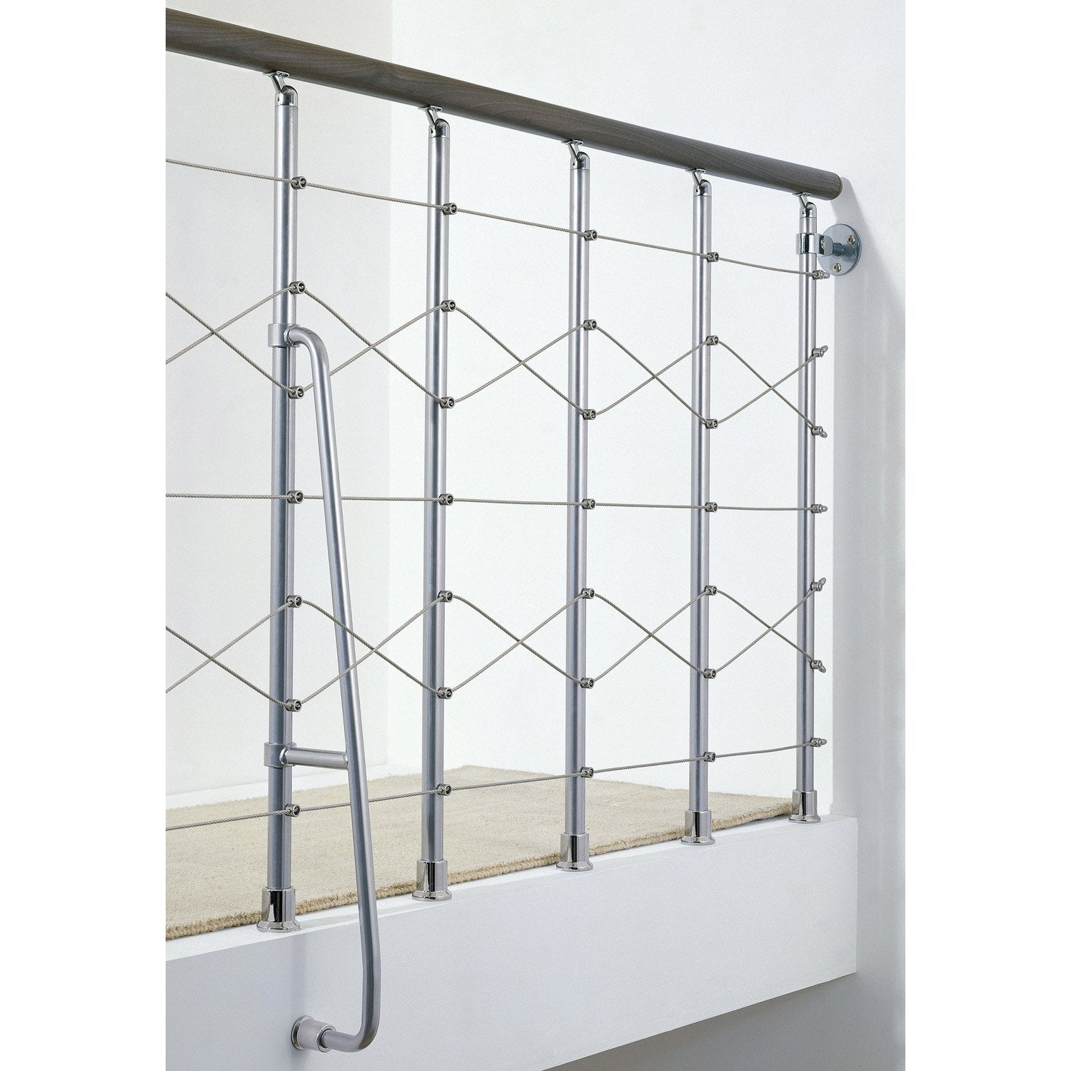 Balustrade chrome bois fonc leroy merlin - Balustrade pvc leroy merlin ...