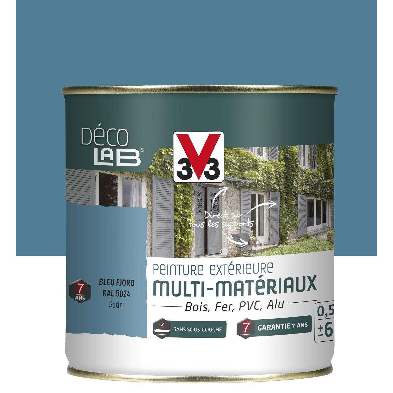 Peinture multimat riau ext rieur v33 bleu fjord 0 5 l - Peinture bleu petrole leroy merlin ...