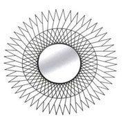d coration miroir indus spirale noir. Black Bedroom Furniture Sets. Home Design Ideas