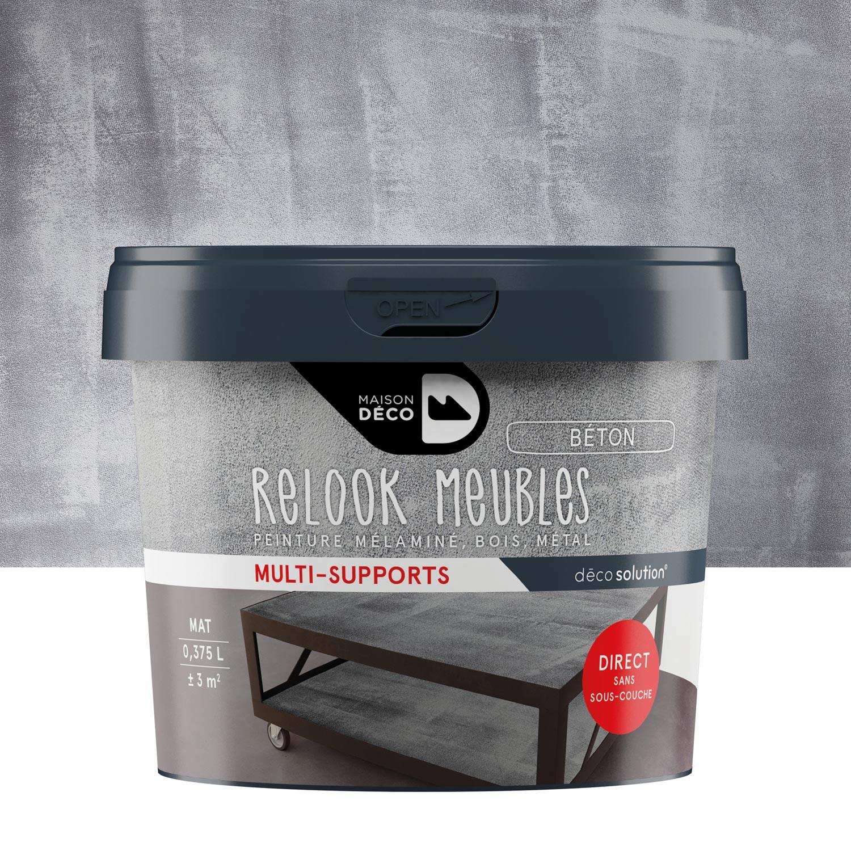 peinture pour meuble objet et porte b ton maison deco relook meuble leroy merlin. Black Bedroom Furniture Sets. Home Design Ideas