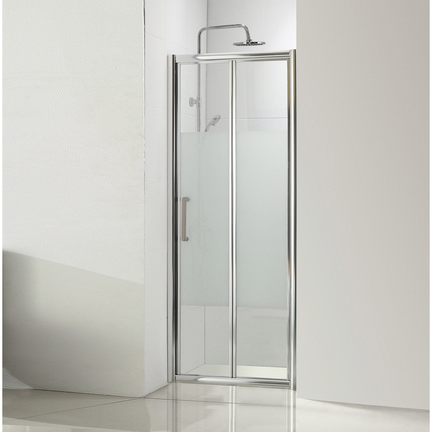Porte de douche pliante for Leroy merlin porte douche