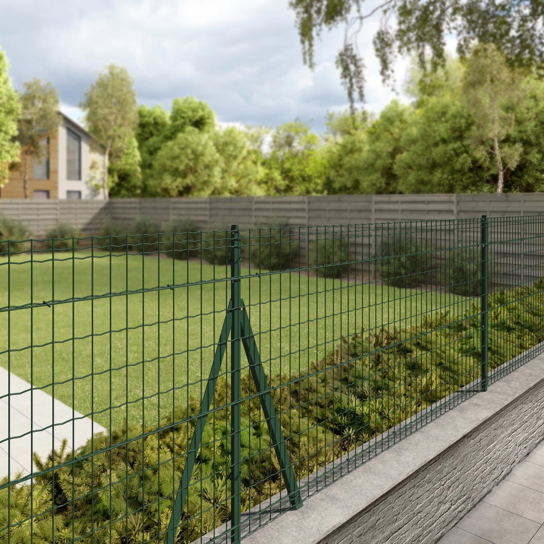 Grillage rouleau soud luxor nature vert h 1 x m - Porte de jardin grillage ...
