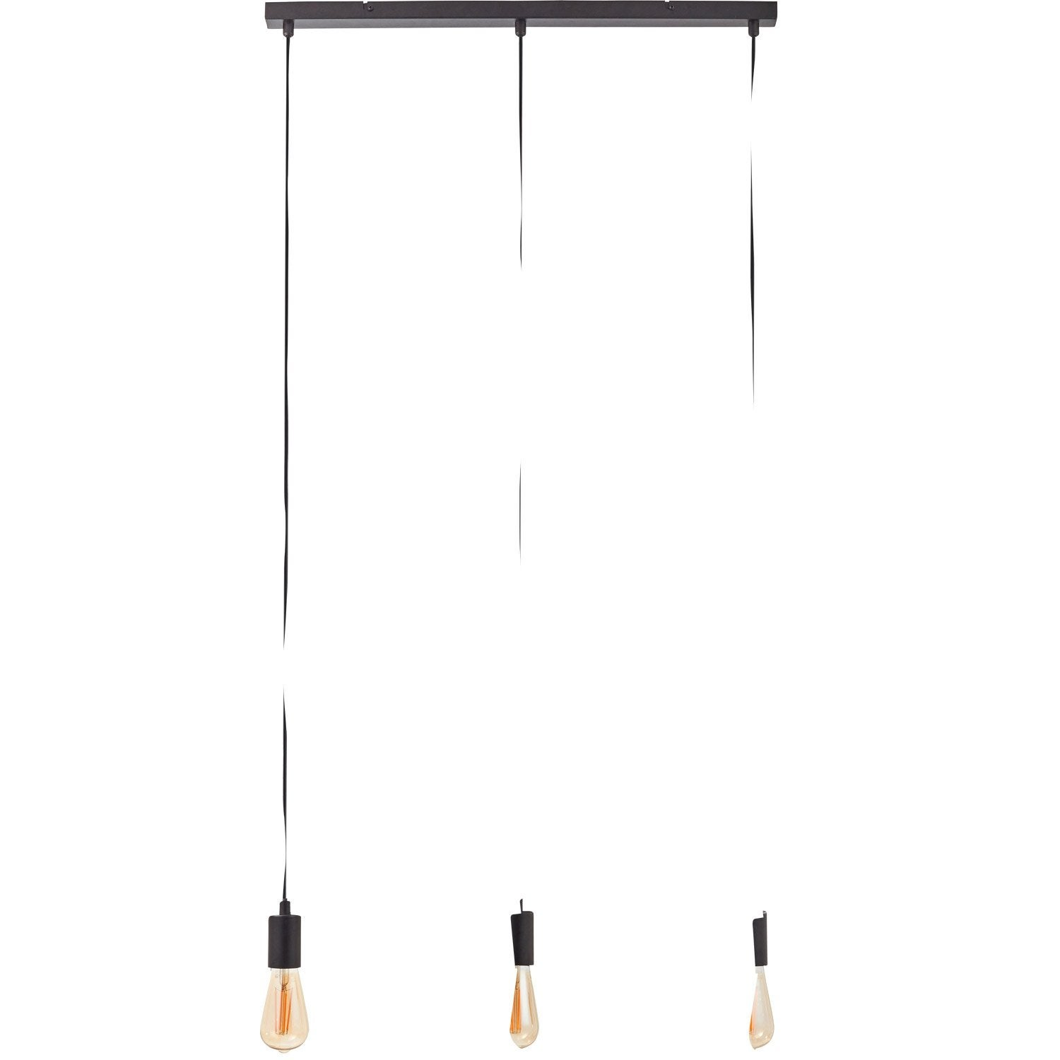 Suspension e27 scandinave sky m tal noir 3 x 60 w markslojd leroy merlin - Suspensions leroy merlin ...