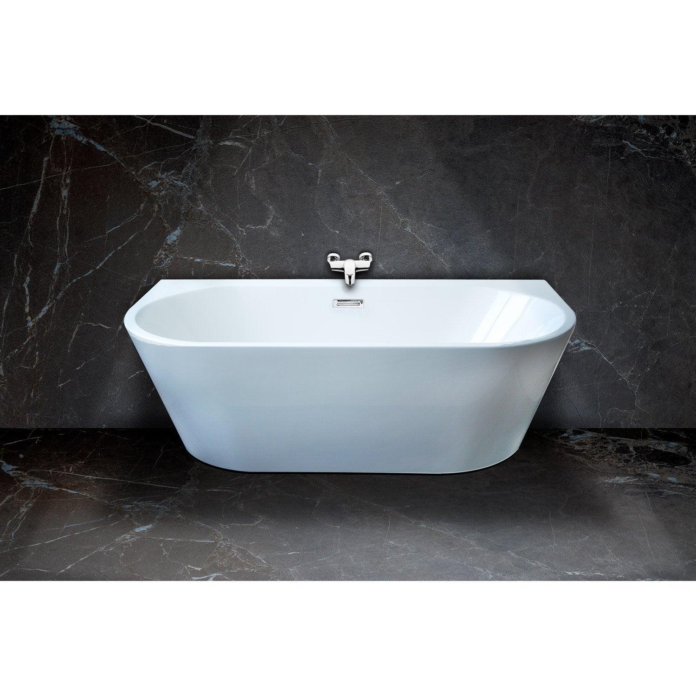baignoire lot lx l cm blanc ilova with bidet suspendu leroy merlin. Black Bedroom Furniture Sets. Home Design Ideas