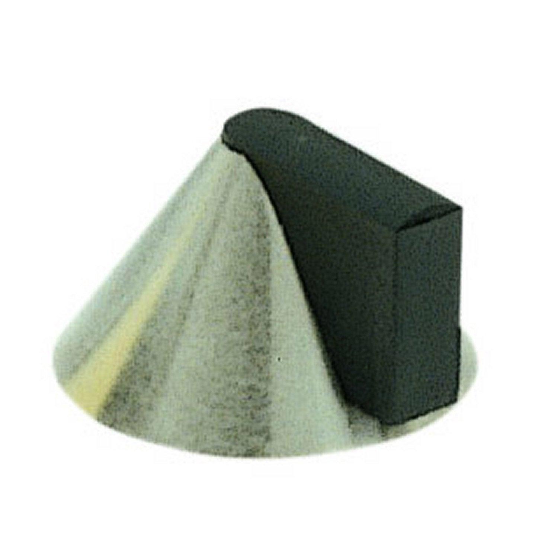 but e de porte fixer au sol en acier inoxydable poli leroy merlin. Black Bedroom Furniture Sets. Home Design Ideas