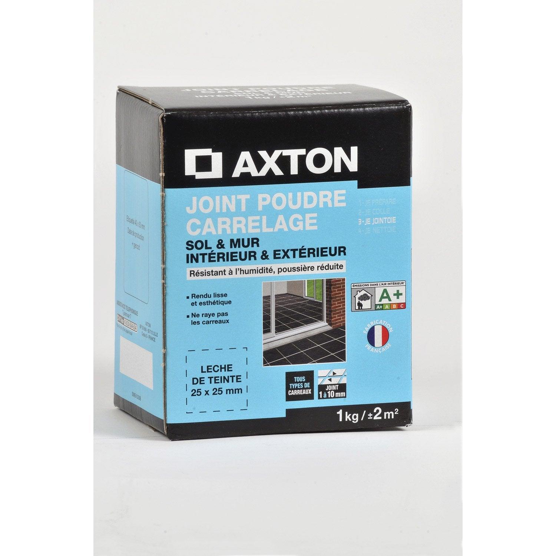 joint poudre tout type de carrelage et mosa que axton noir 1 kg leroy merlin. Black Bedroom Furniture Sets. Home Design Ideas