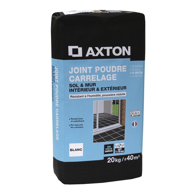 joint poudre tout type de carrelage et mosa 239 que axton blanc 20 kg leroy merlin