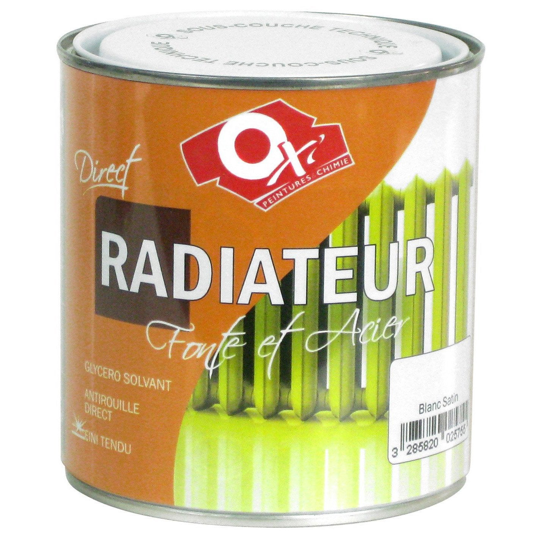 Peinture ox 39 oxytol blanc 0 5 l leroy merlin - Peinture radiateur leroy merlin ...