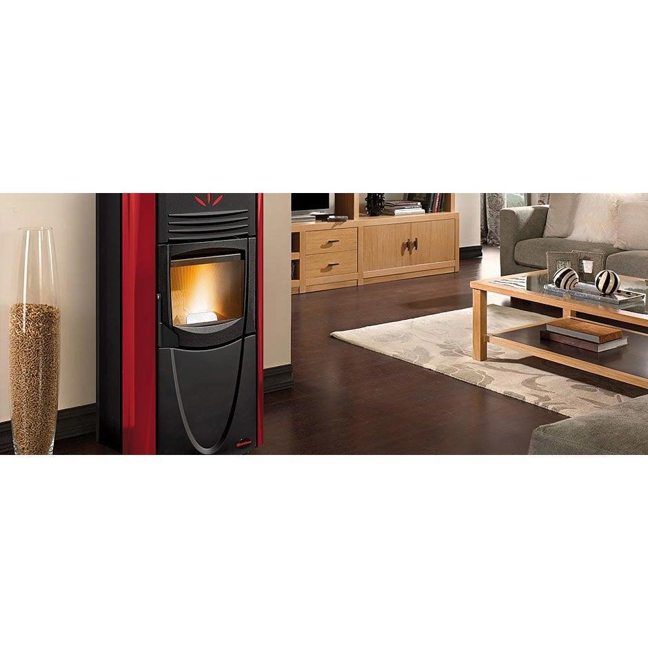 po le granul s extraflamme graziosa steel plus bordeaux 8 kw leroy merlin. Black Bedroom Furniture Sets. Home Design Ideas