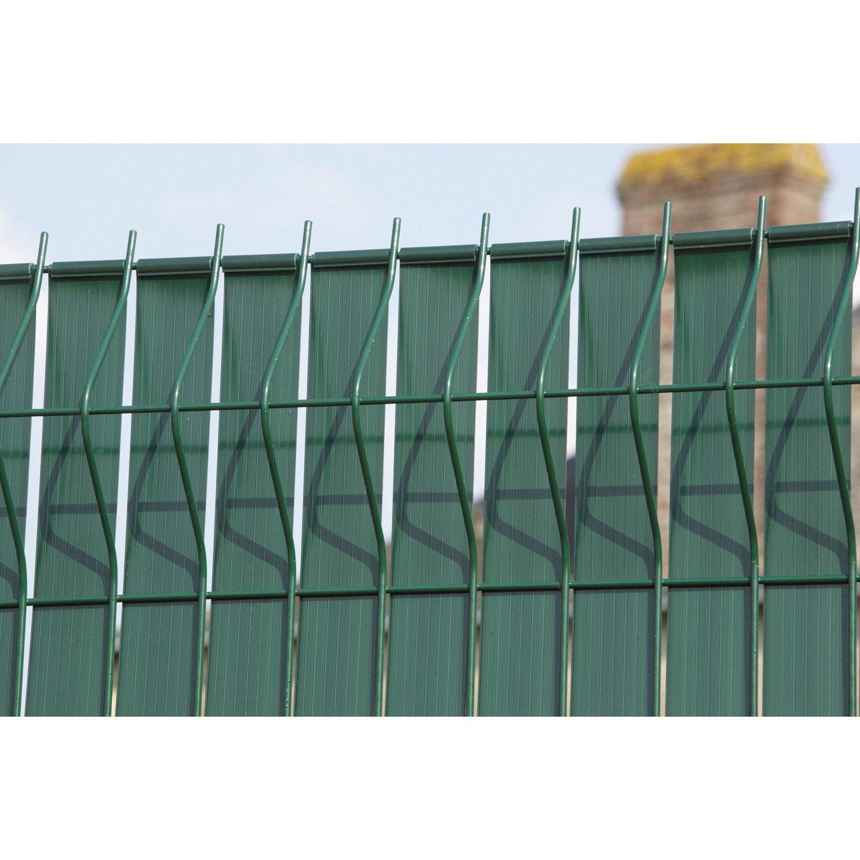 Brise vue avec attaches dirickx lixo x cm for Leroy merlin cloture jardin