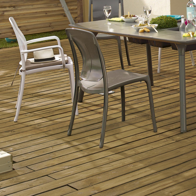 Planche douglas en bois marron naterial l 250 x l 12 cm x ep 21 mm leroy m - Leroy merlin lame terrasse ...