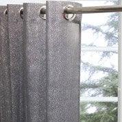 LEROY MERLIN - Voilage Glitter INSPIRE, gris, 140 x 260 cm