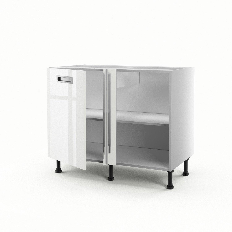 meuble de cuisine bas d 39 angle blanc 1 porte play x l. Black Bedroom Furniture Sets. Home Design Ideas