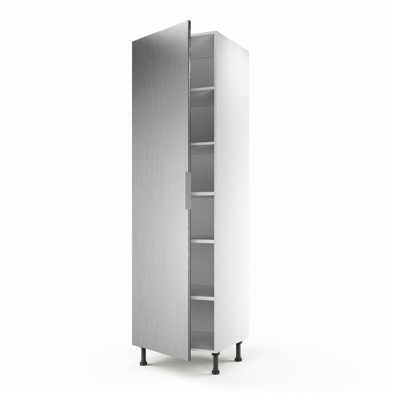 Colonne d cor aluminium 1 porte stil h200xl60xp56 cm for Porte 60 cm leroy merlin