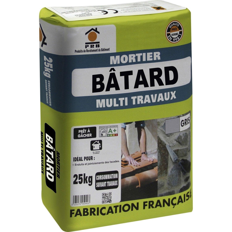 mortier batard gris prb 25kg leroy merlin. Black Bedroom Furniture Sets. Home Design Ideas