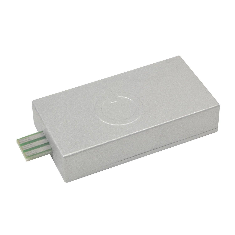 Interrupteur tactile pour r glette plate rio inspire gris for Reglette salle de bain leroy merlin