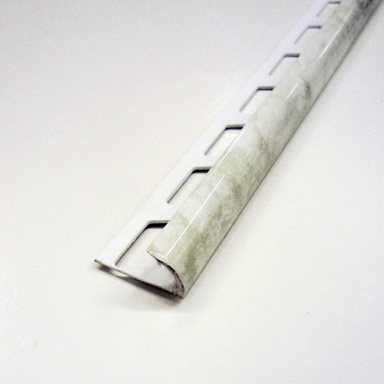 quart de rond en pvc marbre blanc 2 5 m x 9 mm leroy merlin. Black Bedroom Furniture Sets. Home Design Ideas