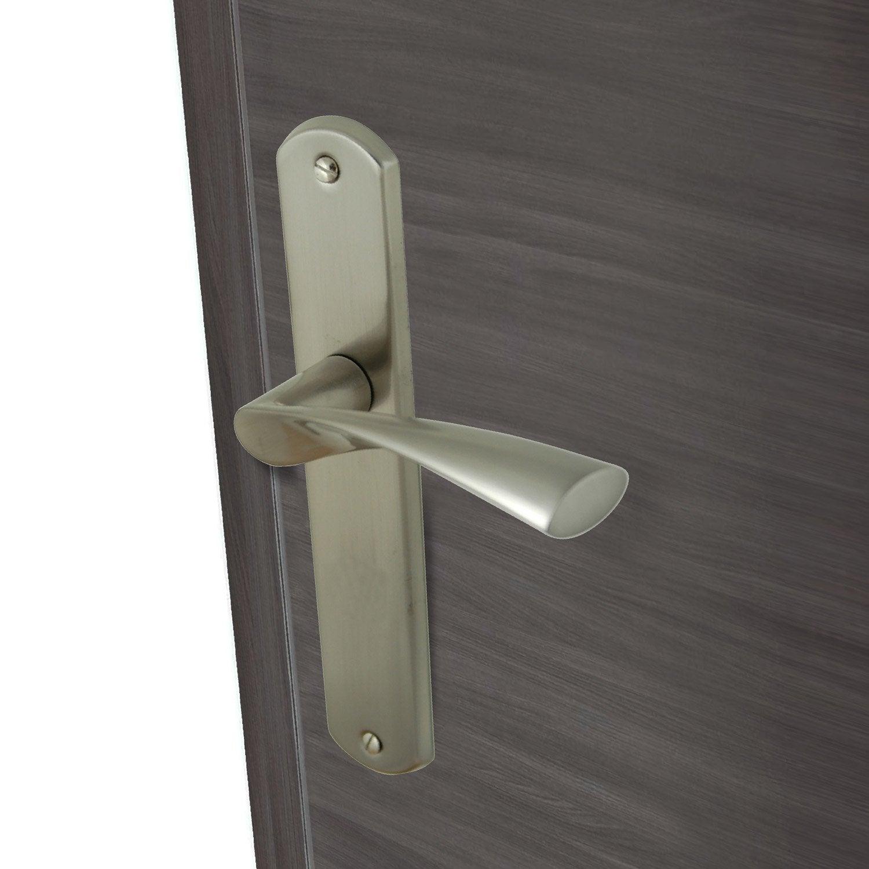 2 poign es de porte balard sans trou inspire aluminium 195 mm leroy merlin. Black Bedroom Furniture Sets. Home Design Ideas