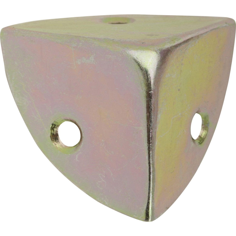 Coin de valise visser acier zingu hettich mm for Protection angle meuble