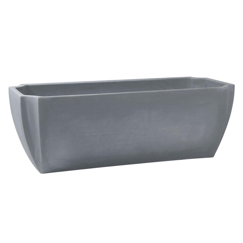 Jardini re poly thyl ne r serve d 39 eau eda cm x l - Jardiniere beton leroy merlin ...
