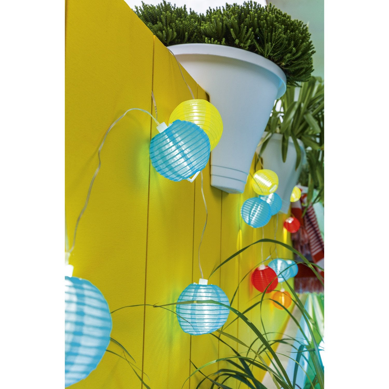 Guirlande solaire fiesta 3 lumens multicolore leroy merlin - Guirlande led solaire exterieur ...