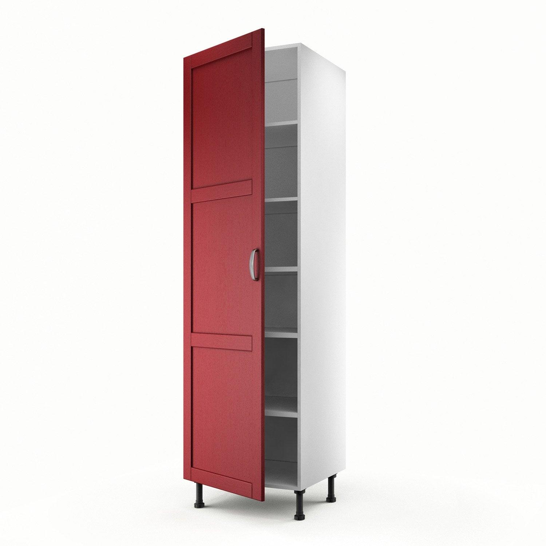 Meuble de cuisine colonne rouge 1 porte rubis x - Meuble de cuisine colonne ...
