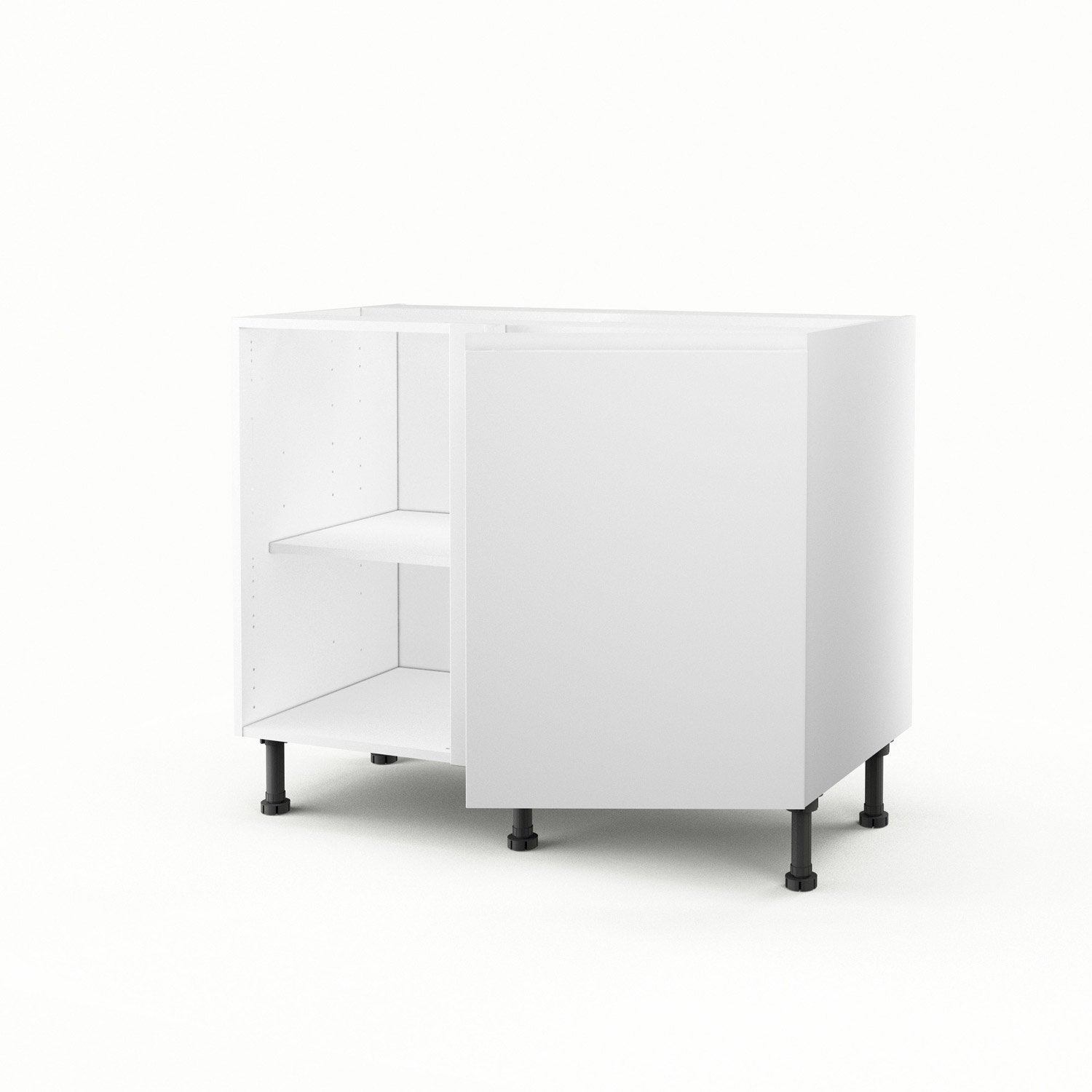 meuble de cuisine bas d 39 angle blanc 1 porte graphic. Black Bedroom Furniture Sets. Home Design Ideas