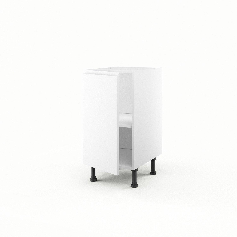 Meuble De Cuisine Bas Blanc 1 Porte Graphic X X