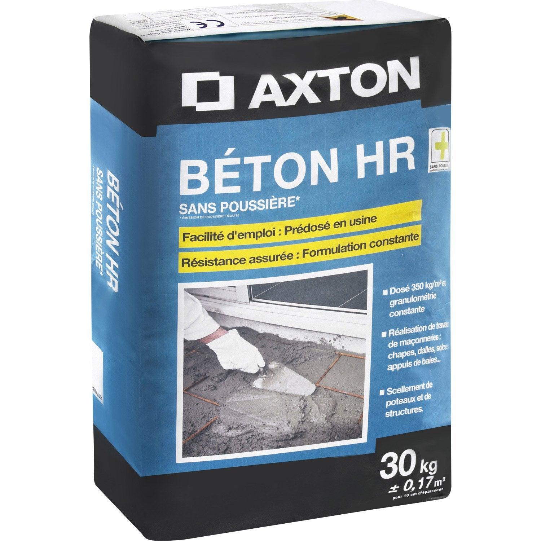 B ton sans poussi re axton 30 kg leroy merlin for Enduit beton leroy merlin