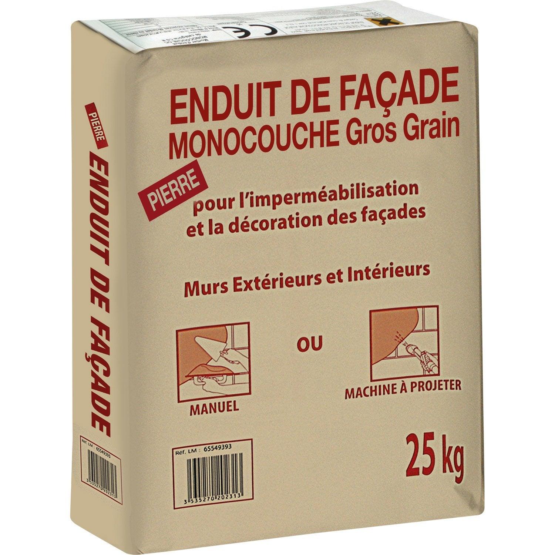 Favori Enduit monocouche ton pierre PRB 25 kg | Leroy Merlin PT75