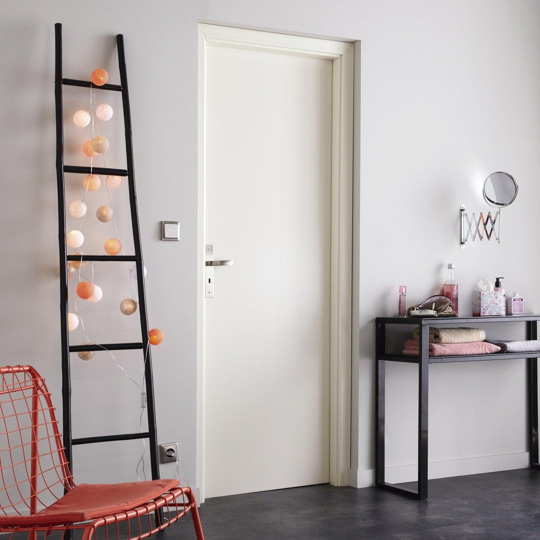 porte fin de chantier laqu blanc home poussant gauche 204 x 73 cm leroy merlin. Black Bedroom Furniture Sets. Home Design Ideas