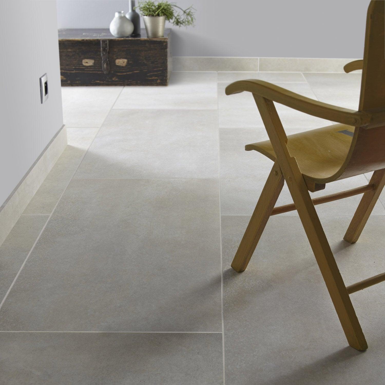 Carrelage sol et mur blanc soie effet pierre roma x l for Carrelage 90 90