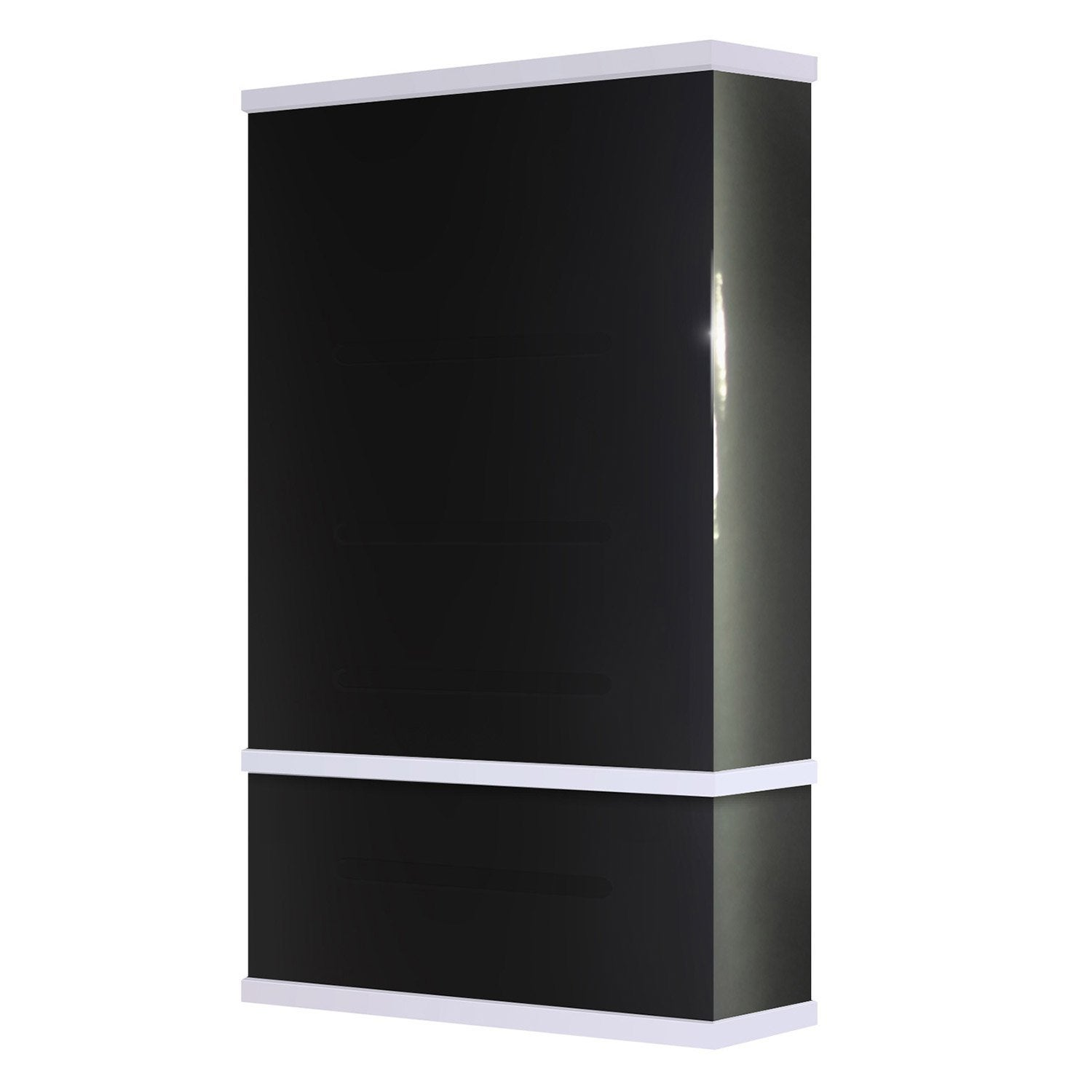 chauffe eau lectrique vertical mural waterslim wts 100 gris anthra 100 l leroy merlin. Black Bedroom Furniture Sets. Home Design Ideas