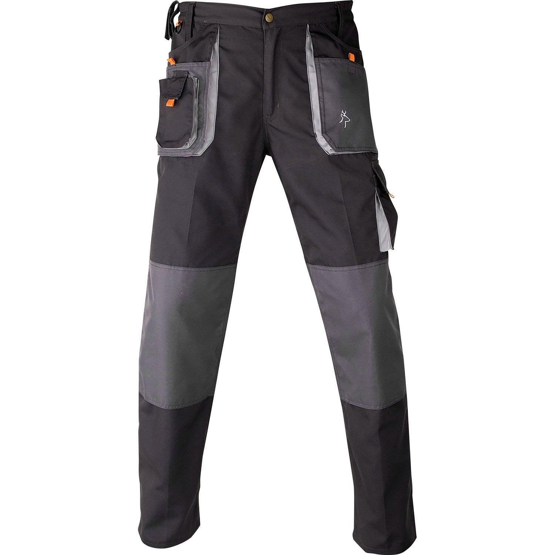 pantalon de travail multipoche kapriol smart gris noir taille m leroy merlin. Black Bedroom Furniture Sets. Home Design Ideas