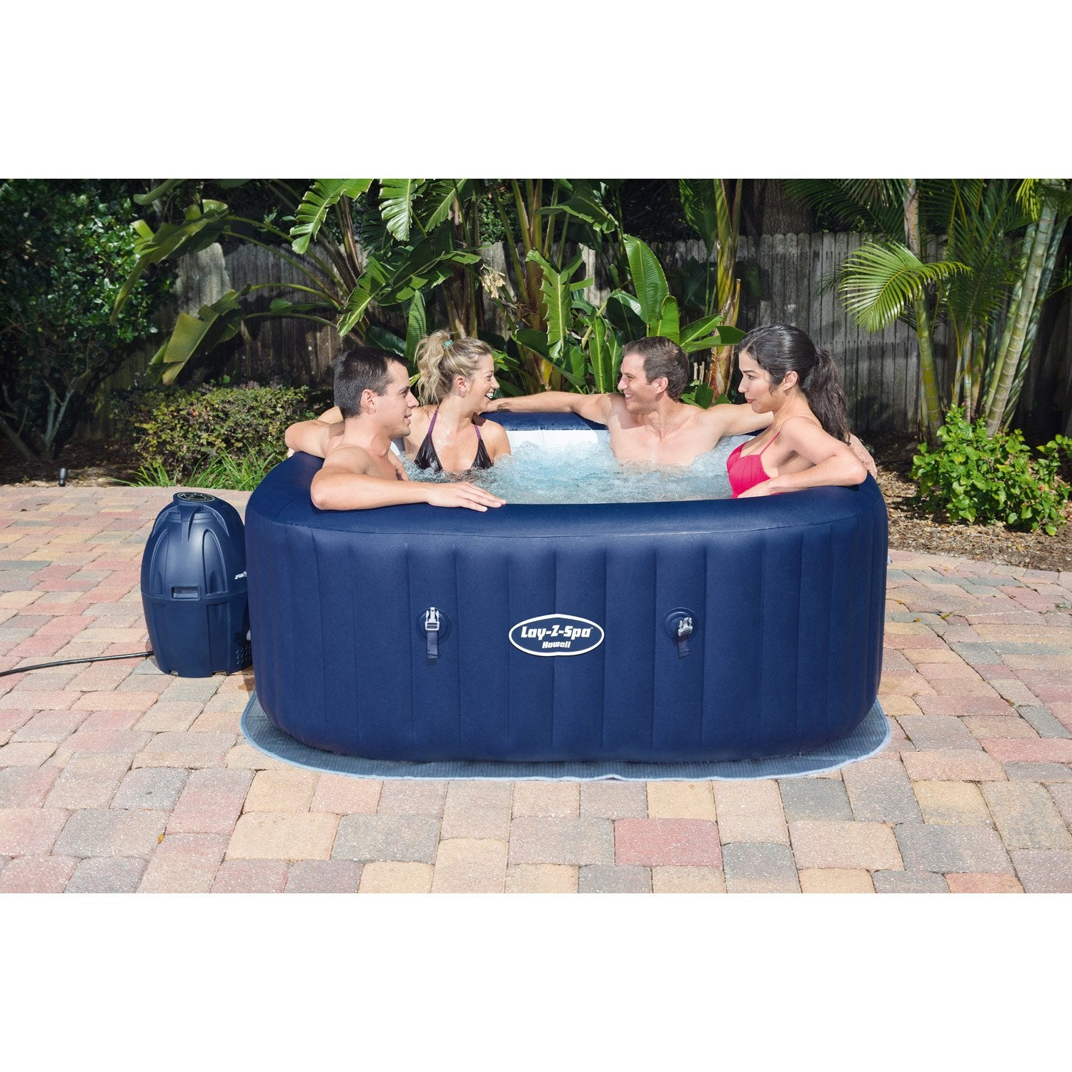 Spa gonflable bestway hawa carr 6 places assises leroy merlin - Location de jacuzzi a domicile ...
