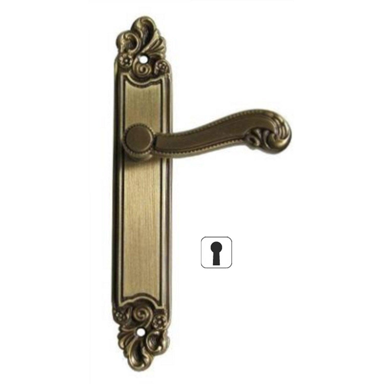 Poign es de porte choiseul 45mm trou de cl en zamak for Poignee de porte fr