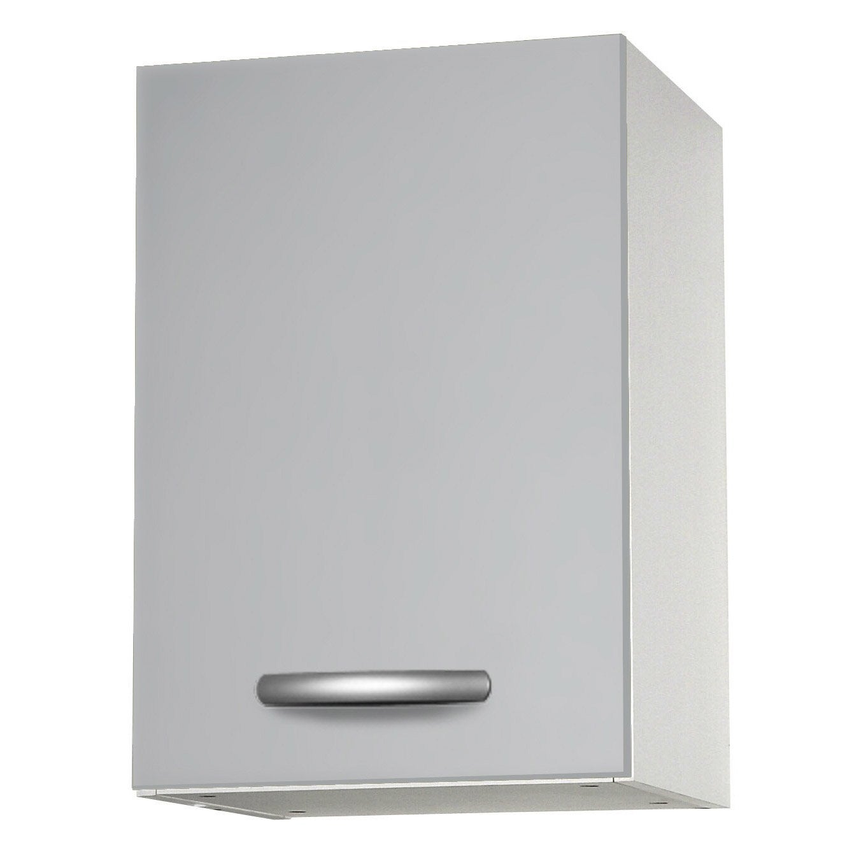 meuble de cuisine haut 1 porte gris aluminium l40x leroy merlin. Black Bedroom Furniture Sets. Home Design Ideas