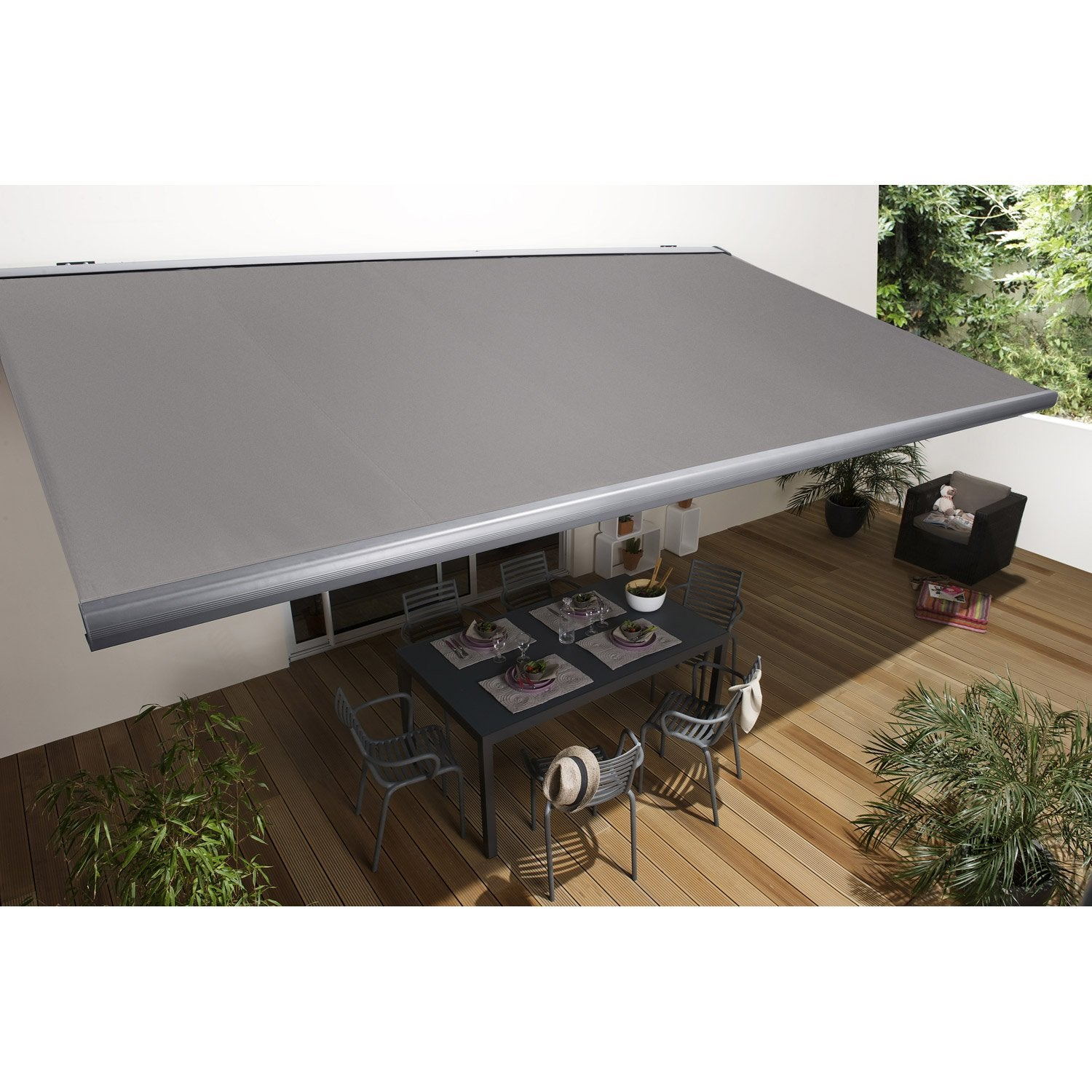 Store banne motoris gold coffre int gral 6 x 3 5 m t122 for Store exterieur electrique