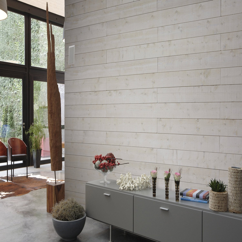 lambris bois sapin brut de sciage petits noeuds l 205 x l 18cm leroy merlin. Black Bedroom Furniture Sets. Home Design Ideas