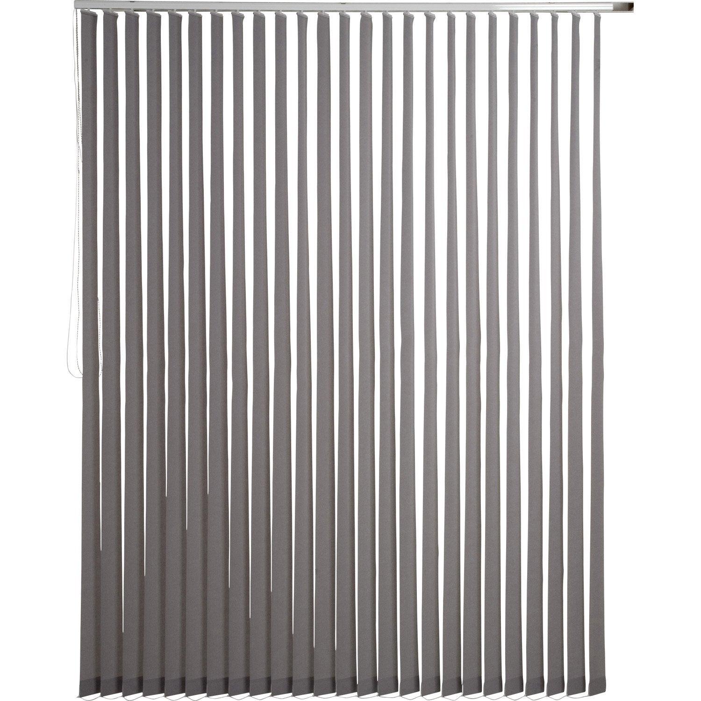 Kit complet rail lamelles verticales orientables inspire - Kit porte coulissante leroy merlin ...