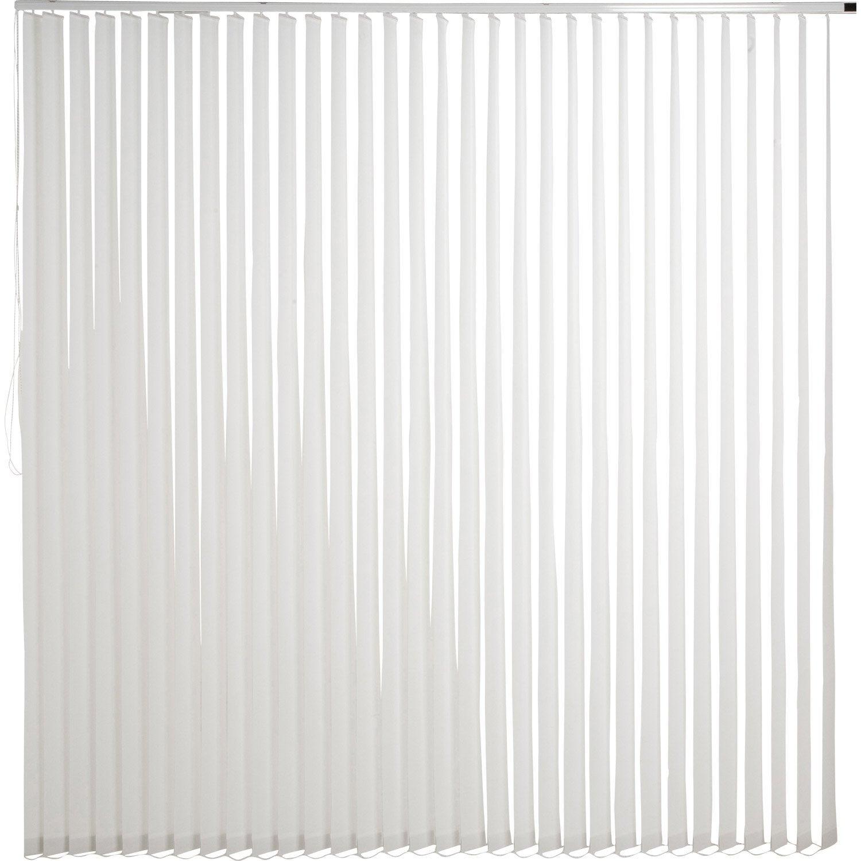 Kit complet rail lamelles verticales orientables inspire blanc - Kit demenagement leroy merlin ...